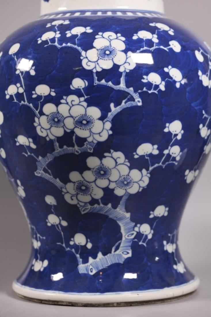 Chinese Qing Dynasty Blue & White Porcelain Jar - 7