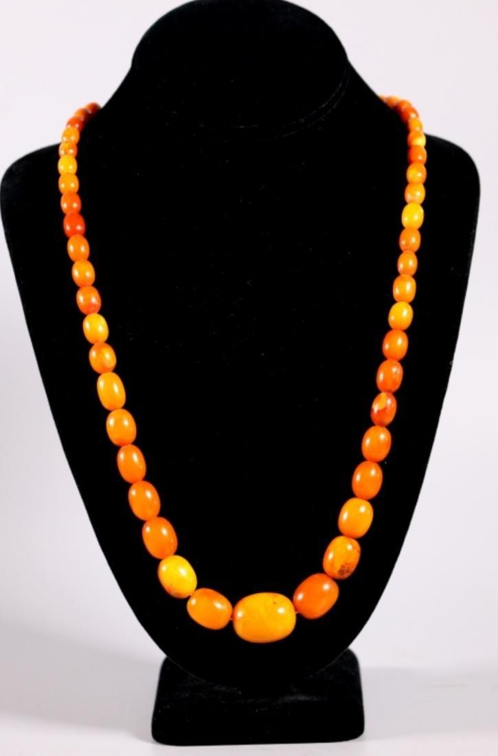 Butterscotch Amber Beads; Total Weight 39.4G