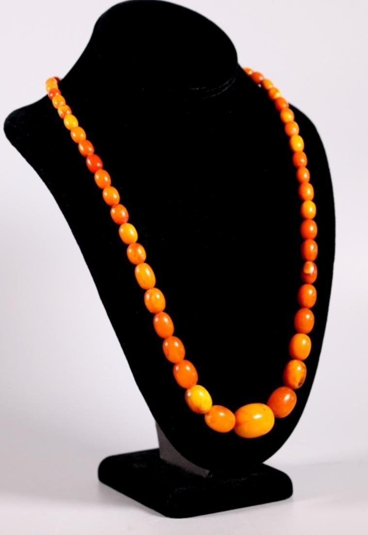 Butterscotch Amber Beads; Total Weight 39.4G - 2