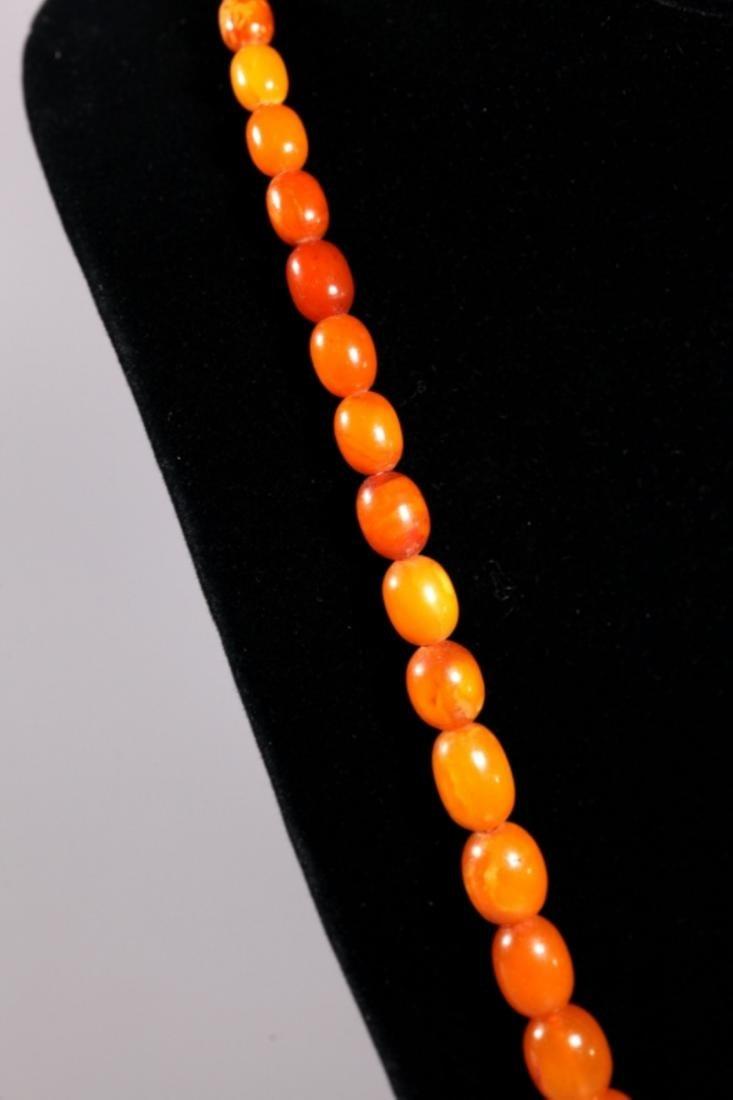 Butterscotch Amber Beads; Total Weight 39.4G - 3