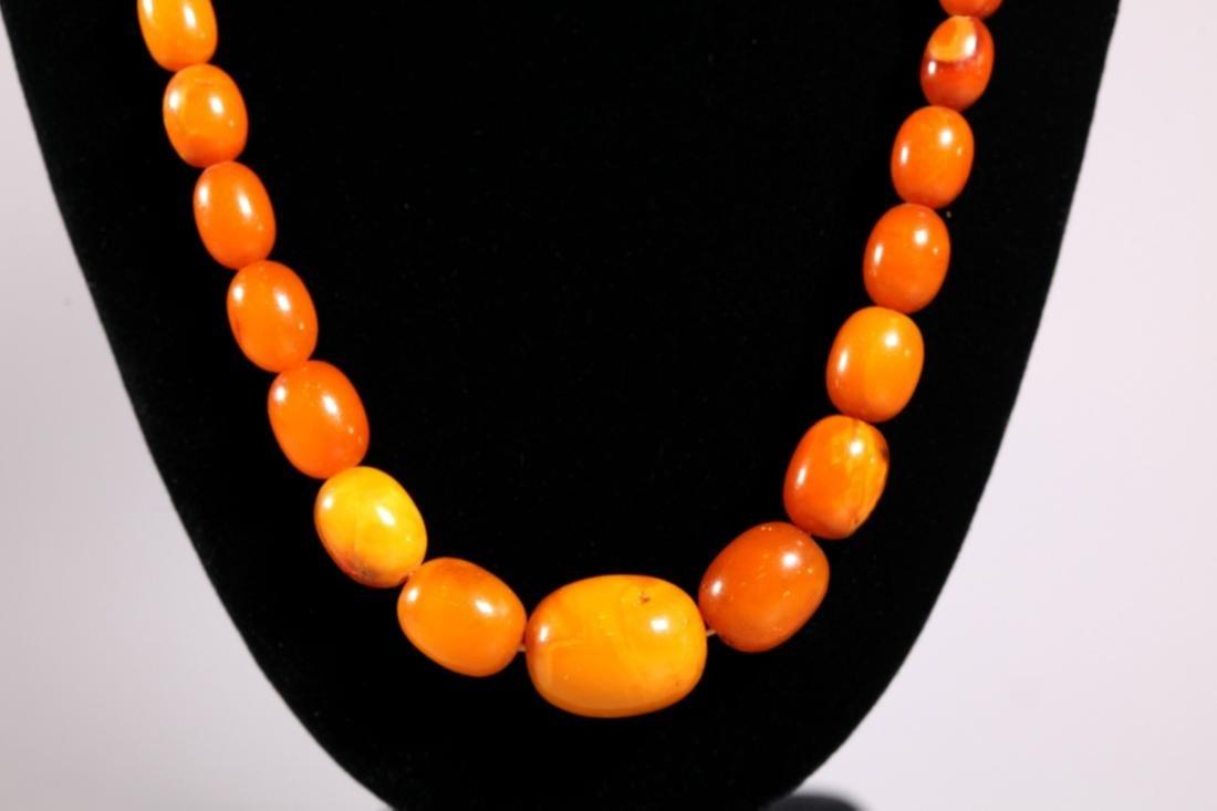 Butterscotch Amber Beads; Total Weight 39.4G - 4