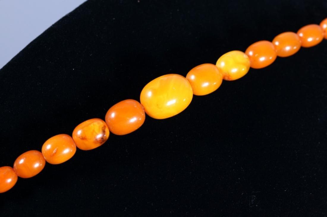 Butterscotch Amber Beads; Total Weight 39.4G - 5