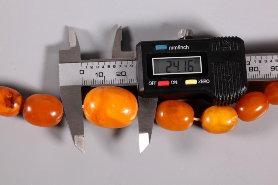 Butterscotch Amber Beads; Total Weight 39.4G - 6