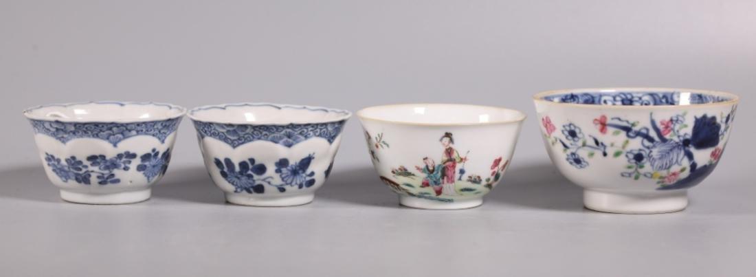 Four Chinese 17/18 Century Porcelain Teacups