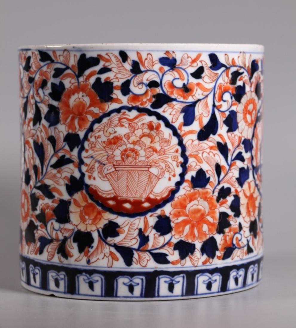 Lg 19 Century Japanese Arita Imari Porcelain Jar
