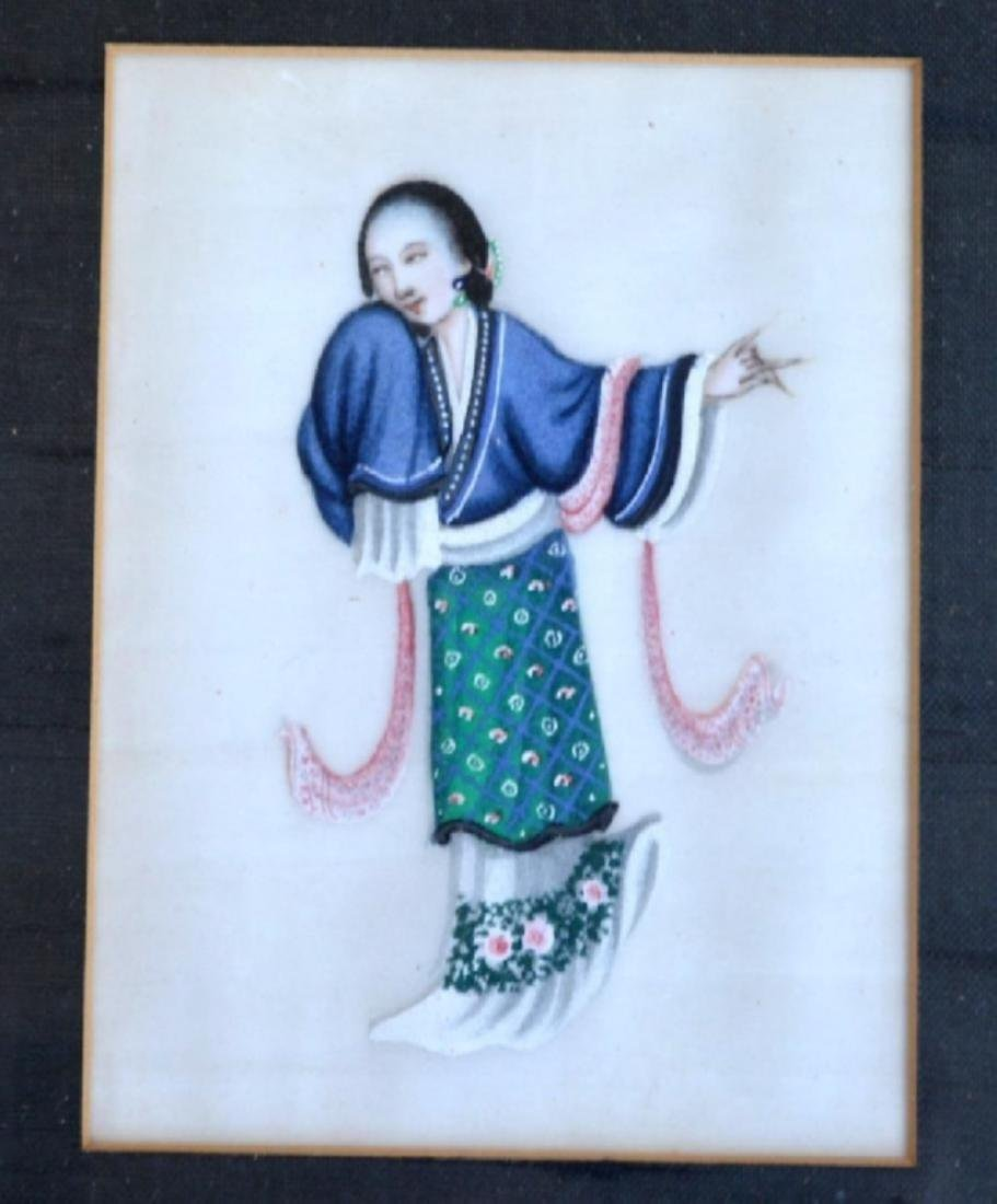 Eleven 19th C Chinese Figure Paintings, Framed - 7