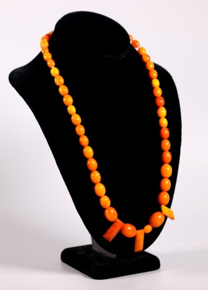 Butterscotch & Clear Amber Beads; Total Weight 39G - 2