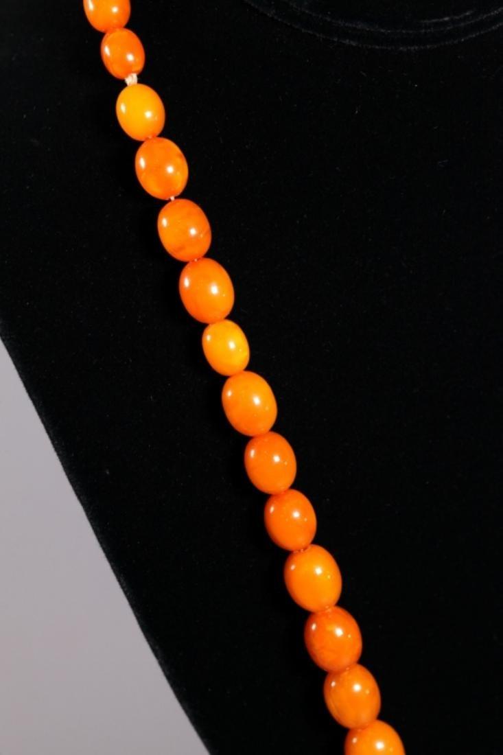 Butterscotch & Clear Amber Beads; Total Weight 39G - 3