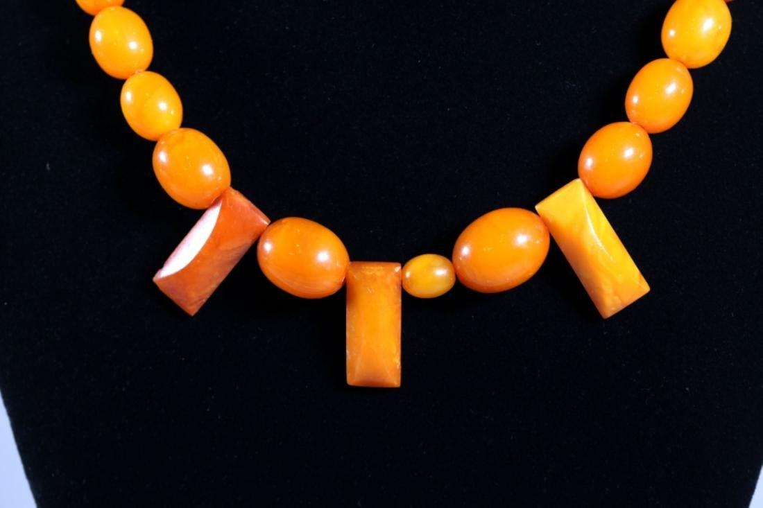 Butterscotch & Clear Amber Beads; Total Weight 39G - 4