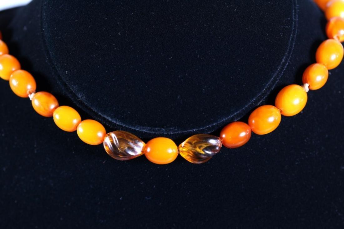 Butterscotch & Clear Amber Beads; Total Weight 39G - 5