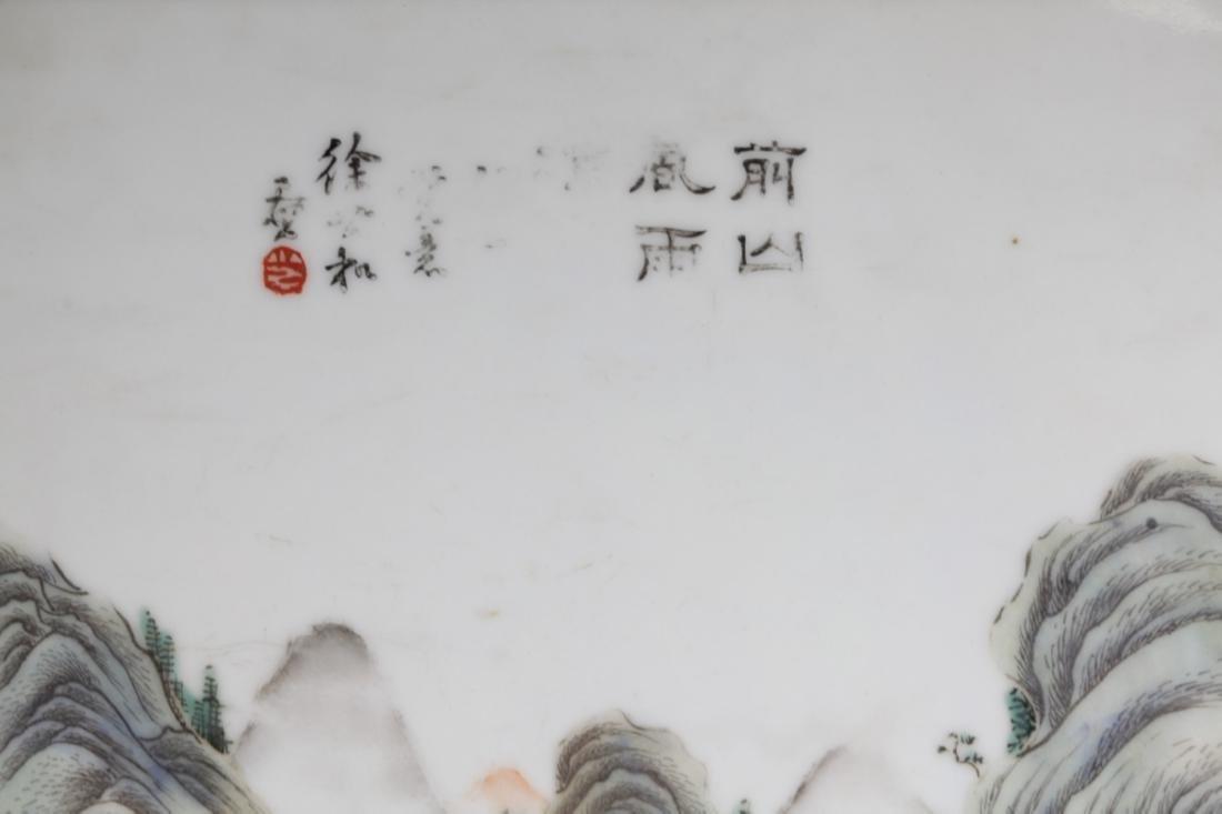 Chinese Antique Porcelain Landscape Plaque - 2