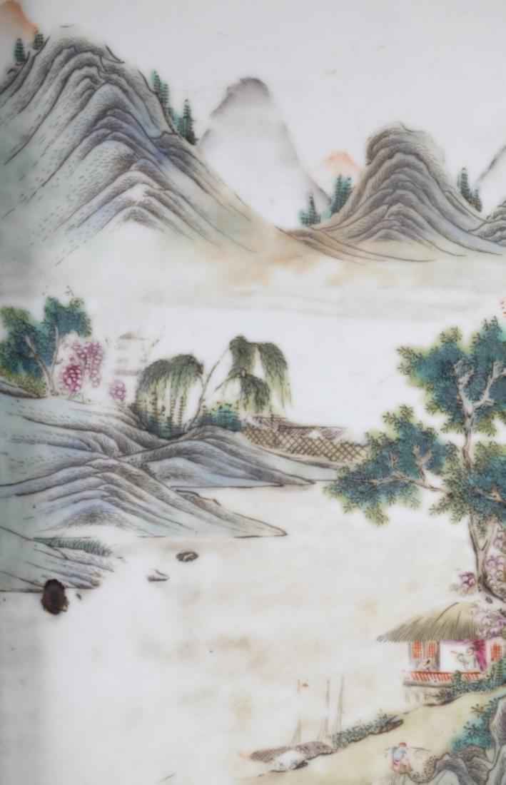 Chinese Antique Porcelain Landscape Plaque - 3