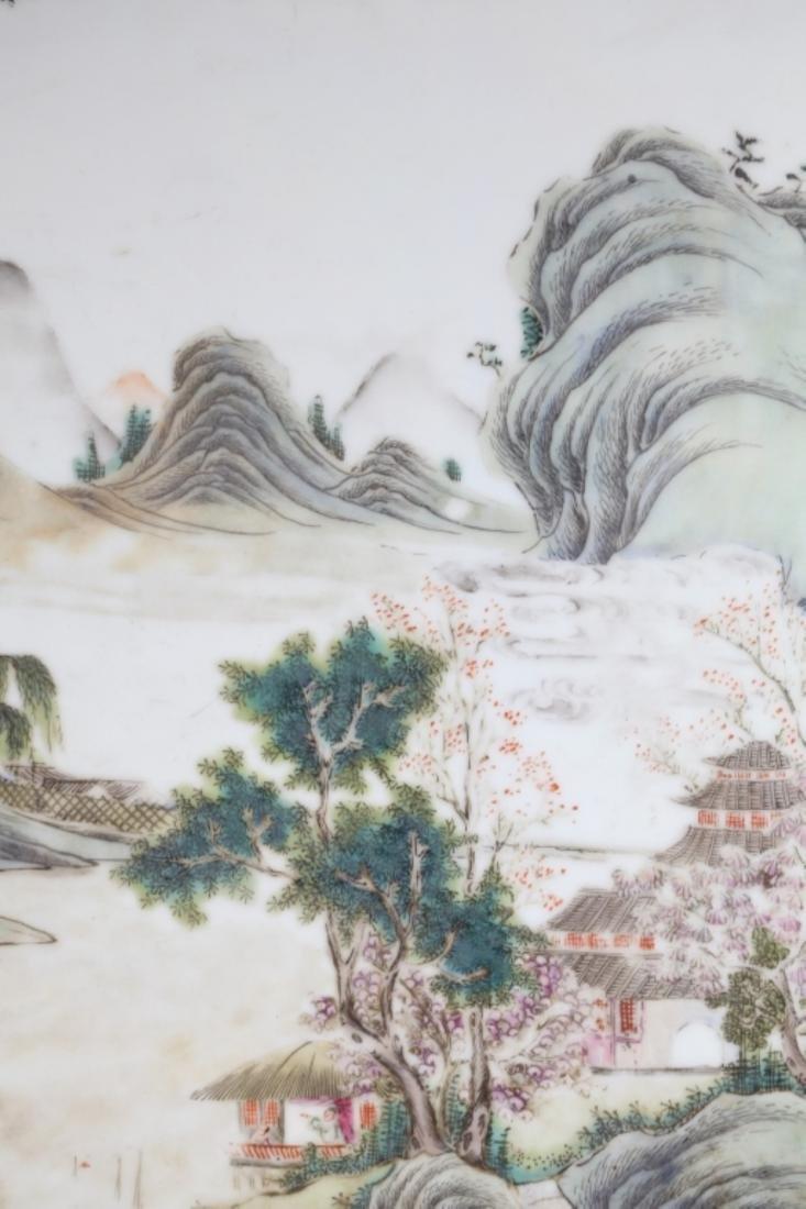 Chinese Antique Porcelain Landscape Plaque - 4