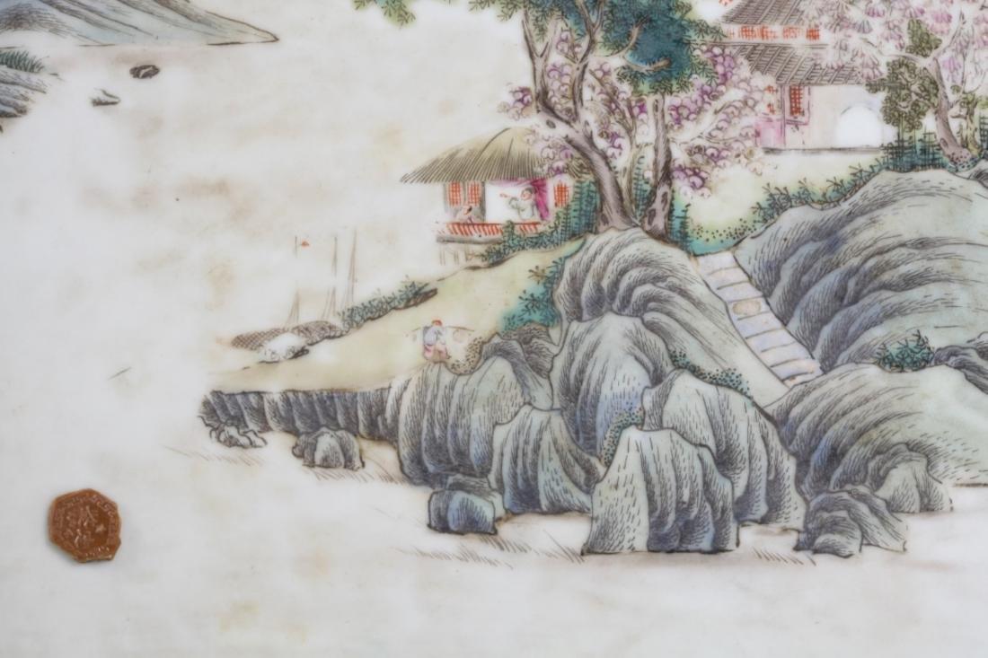 Chinese Antique Porcelain Landscape Plaque - 5