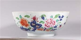 Chinese 18 C Famille Rose Enameled Porcelain Bowl