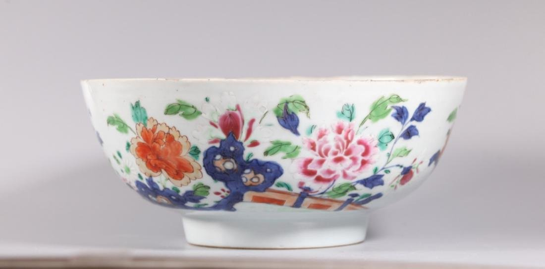 Chinese 18 C Famille Rose Enameled Porcelain Bowl