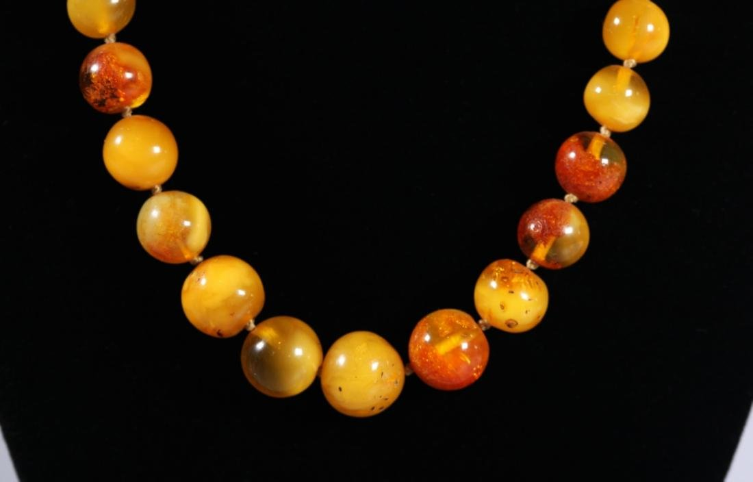 Amber Bead Necklace; Total Weight 34G - 4