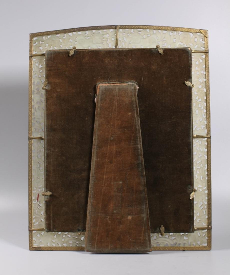 Late Qing Chinese Carved Hardstone Picture Frame - 3