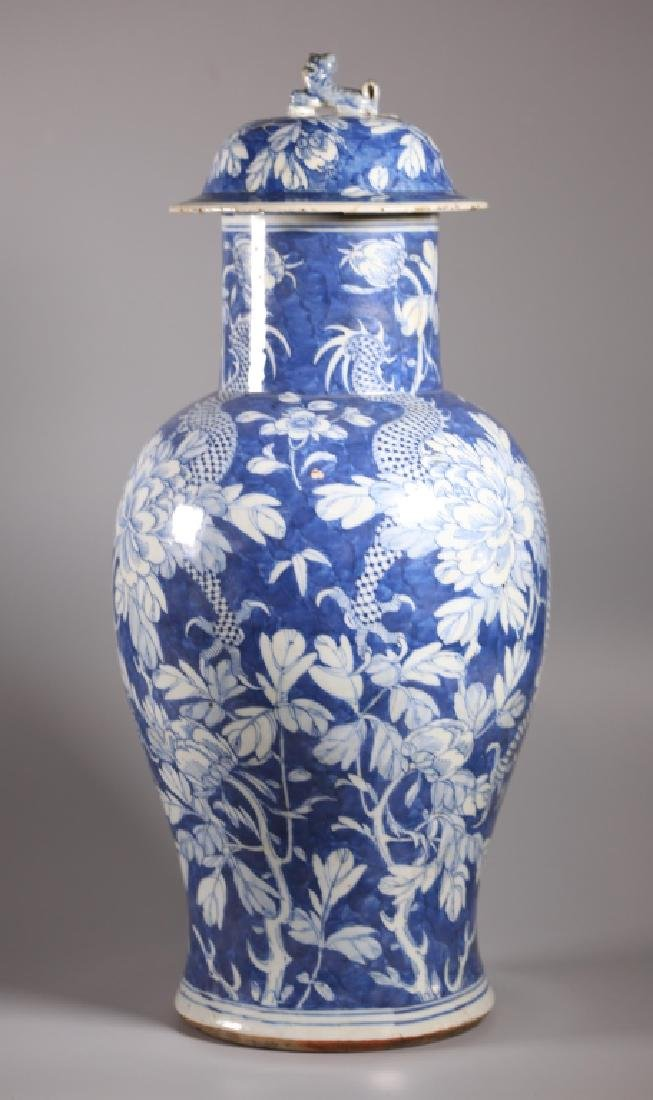 Chinese Qing Dynasty Blue & White Porcelain Vase - 2