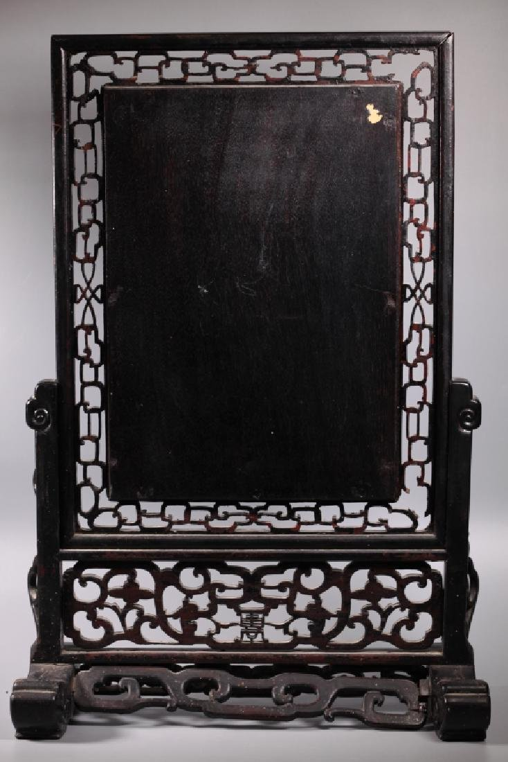 Chinese 19 C B & W Porcelain Table Screen - 7