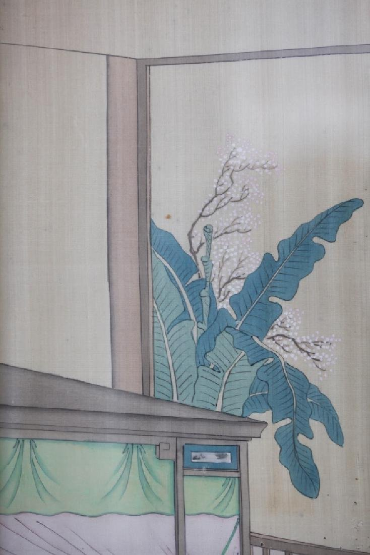 Two 19 C Chinese Paintings on Silk; Chinese Frames - 9