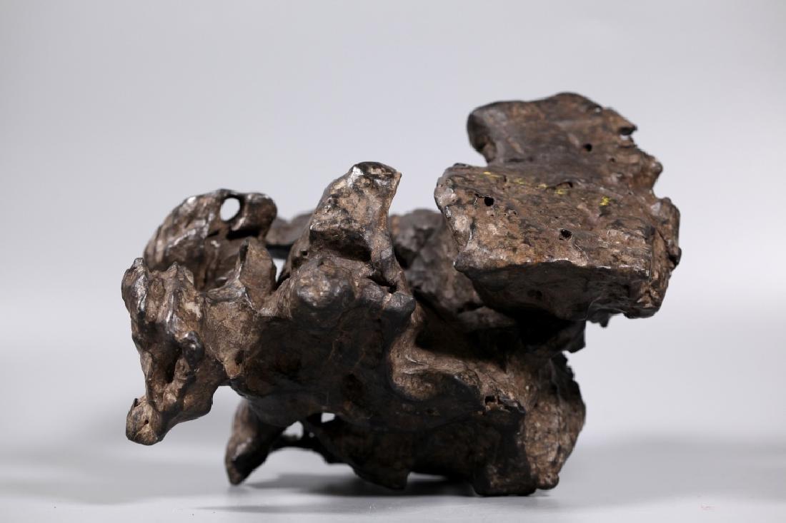 Fine Chinese Lingbi Black Stone Scholar's Rock - 6