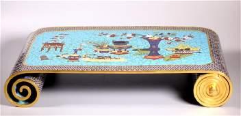 Fine Chinese Scholars Cloisonne Gilt Bronze Table