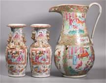 Three 19 C Chinese Rose Medallion Porcelains