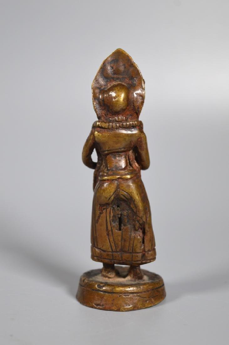 Tibetan 18th/19th Century Dakani Bronze - 2