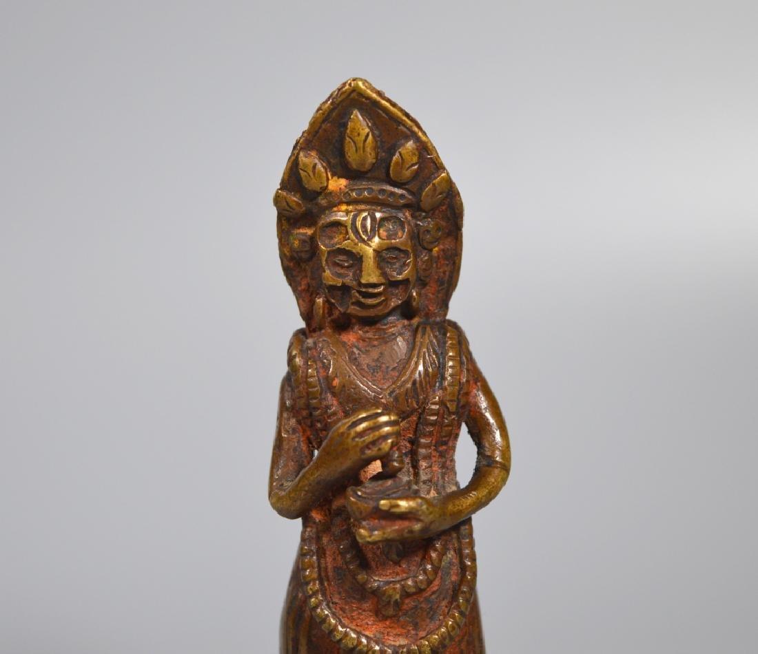 Tibetan 18th/19th Century Dakani Bronze - 3