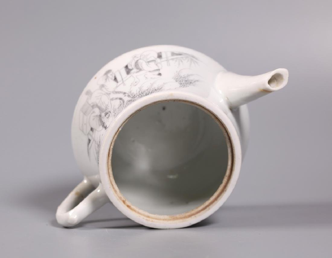 Chinese Diamond-Scratched Porcelain Teapot - 3