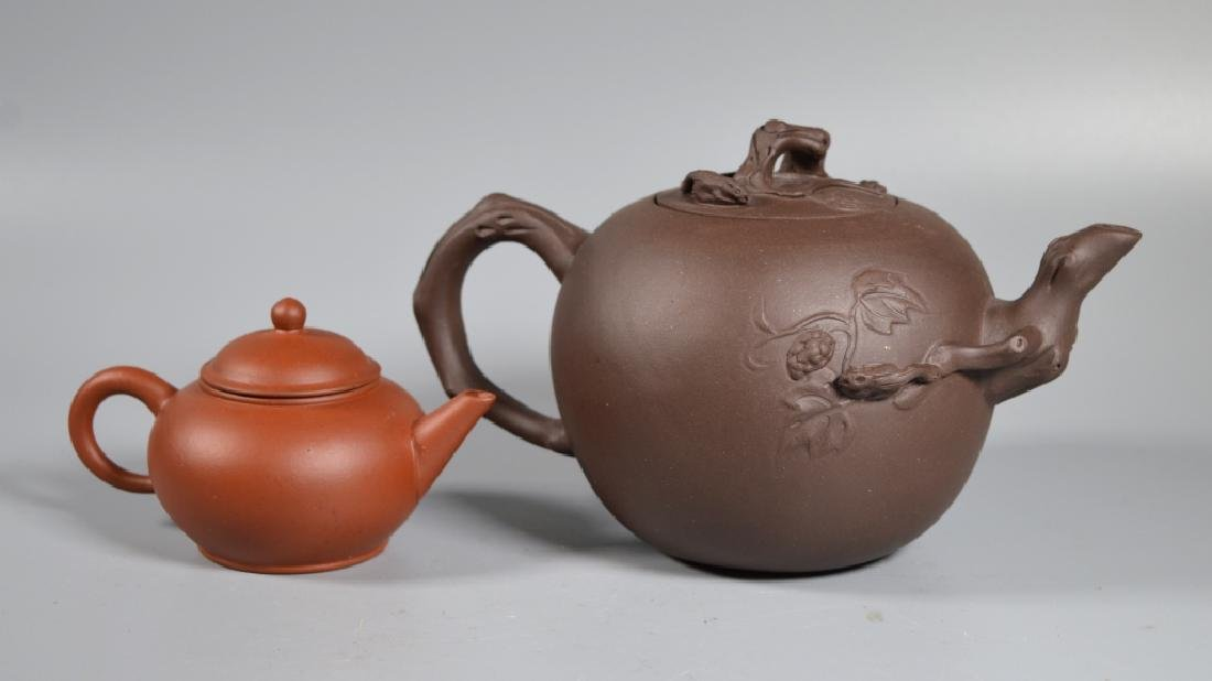 2 Chinese Yixing Teapots - 2