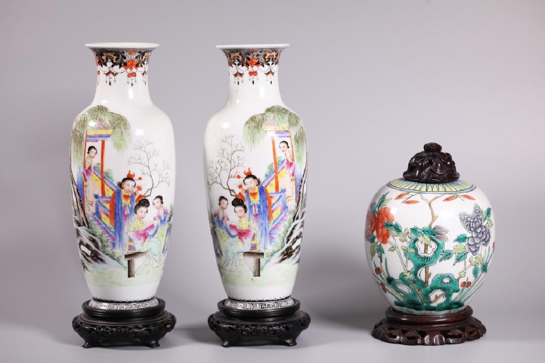 Three Chinese Enameled Porcelains