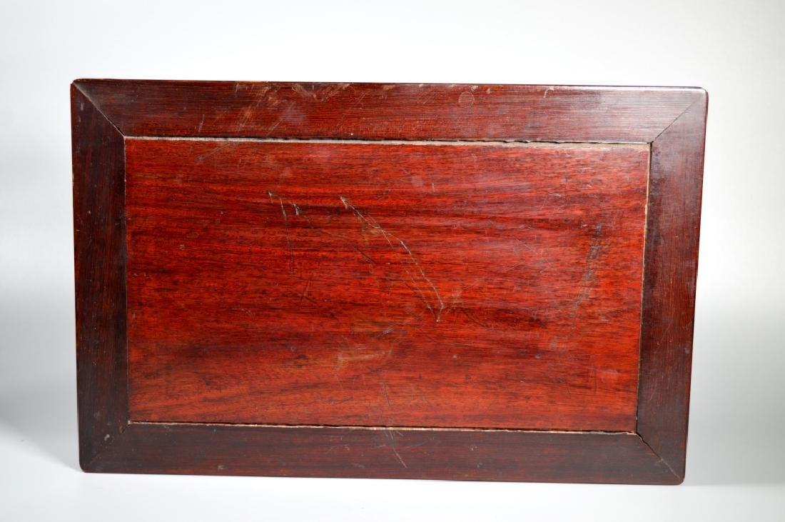 Chinese Hongmu Miniature 4-Legged Table or Stand - 5