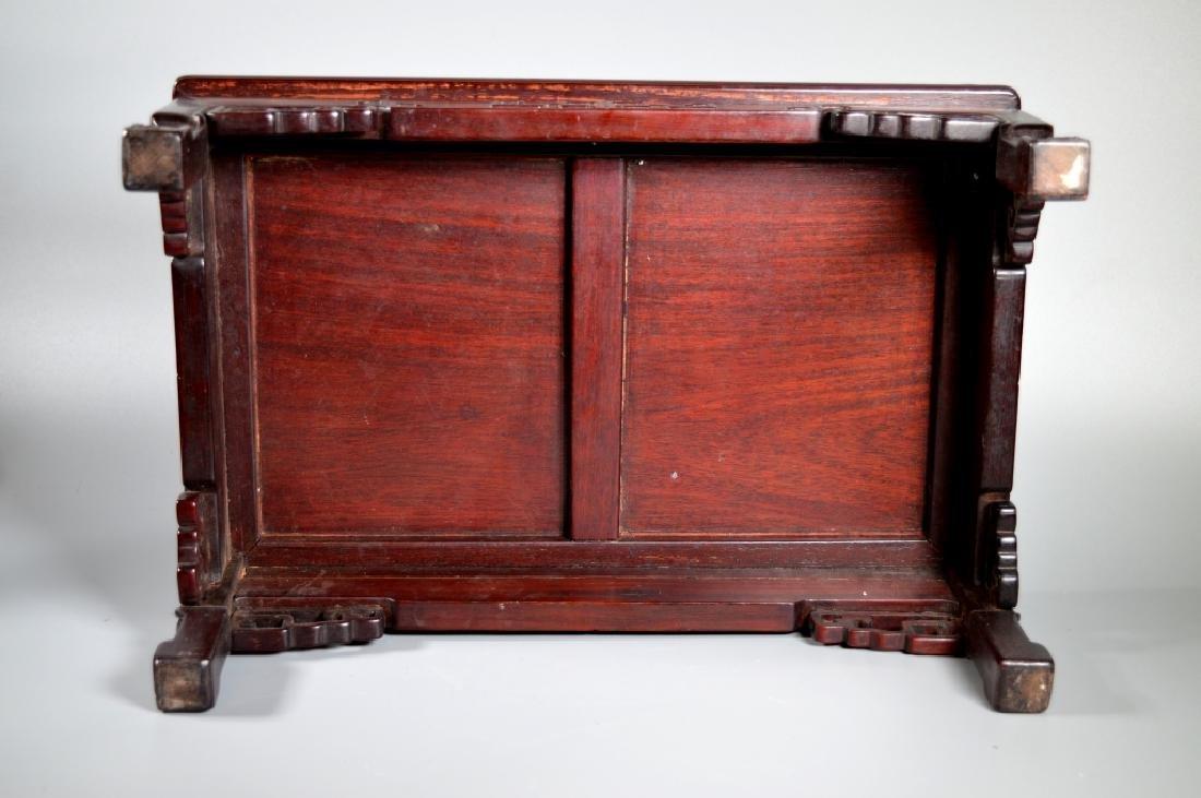 Chinese Hongmu Miniature 4-Legged Table or Stand - 6