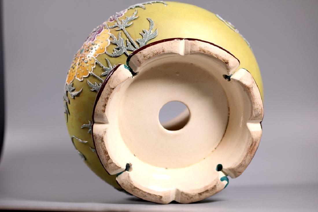 Rare Japanese Satsuma Morriage Art Nouveau Lamp Base - 4