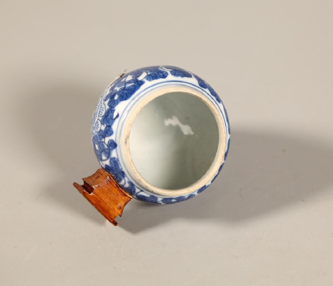 Chinese Blue Porcelain Teapot & 4 Porcelains - 10