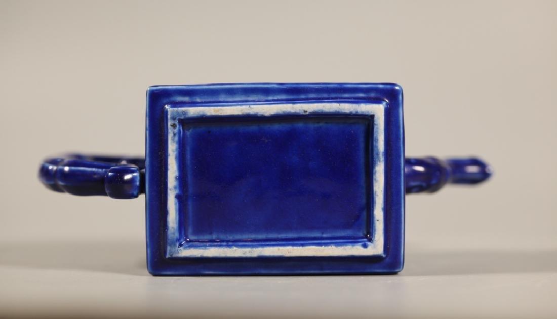 Chinese Blue Porcelain Teapot & 4 Porcelains - 7