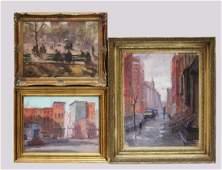 Anthony Springer; 3 Oil / Canvas, Views of N Y C