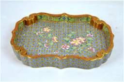 Fine Chinese Famille Rose Enameled Porcelain Tray