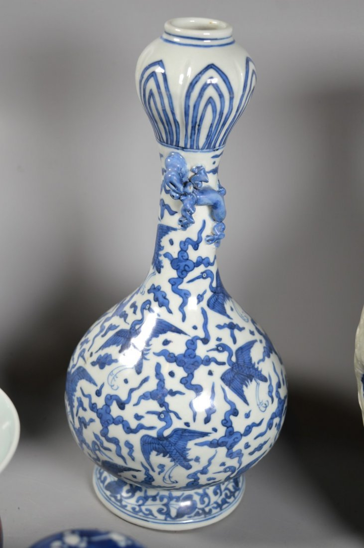Group of Six Chinese porcelain Blue & White, Red Glaze - 4