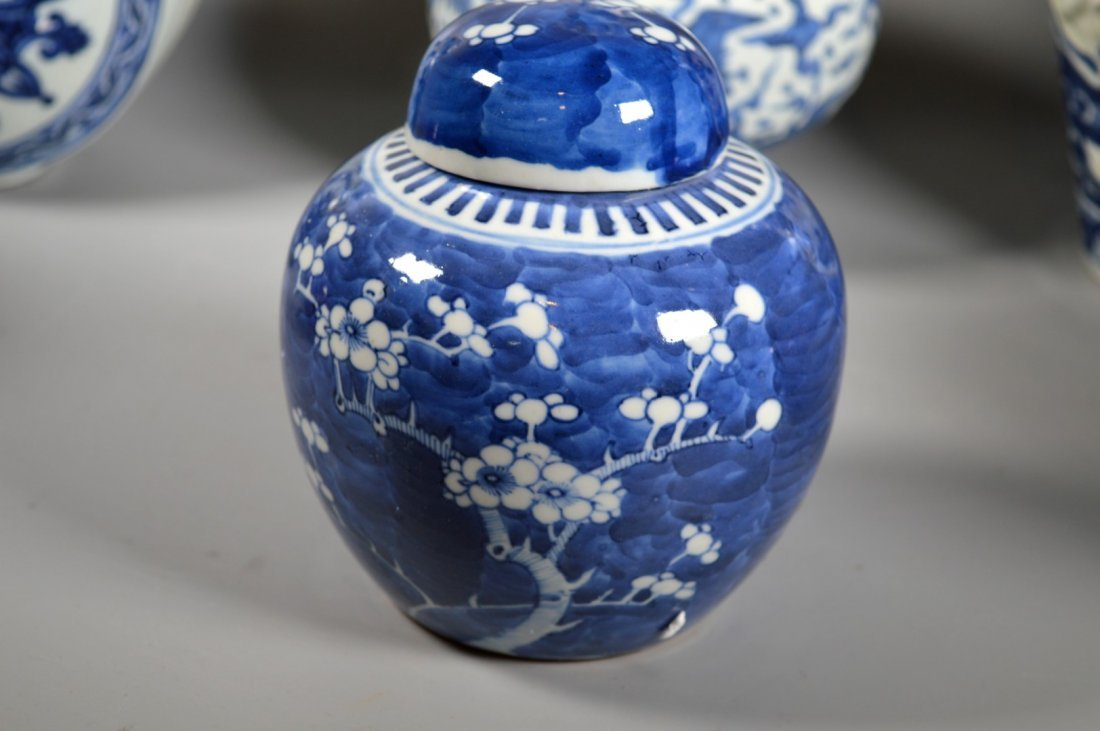 Group of Six Chinese porcelain Blue & White, Red Glaze - 8
