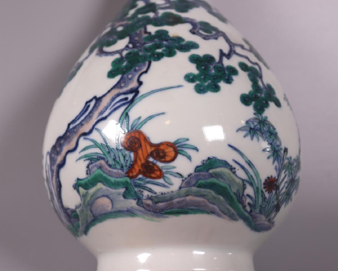 Chinese Qing 3-Friends Winter Doucai Yuhuchunping - 5
