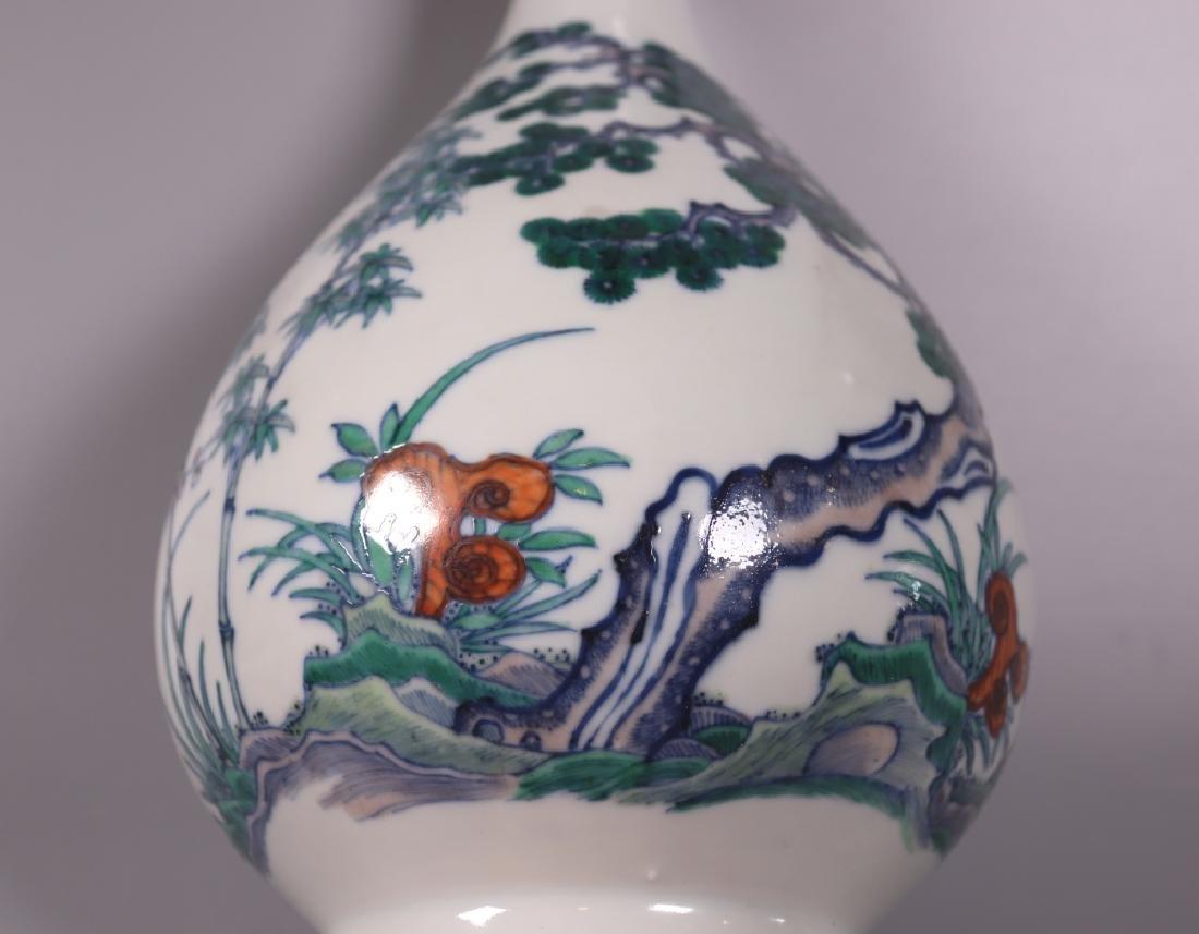 Chinese Qing 3-Friends Winter Doucai Yuhuchunping - 6