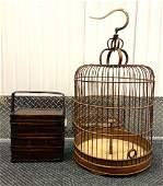 Chinese Bamboo Birdcage  Picnic Basket