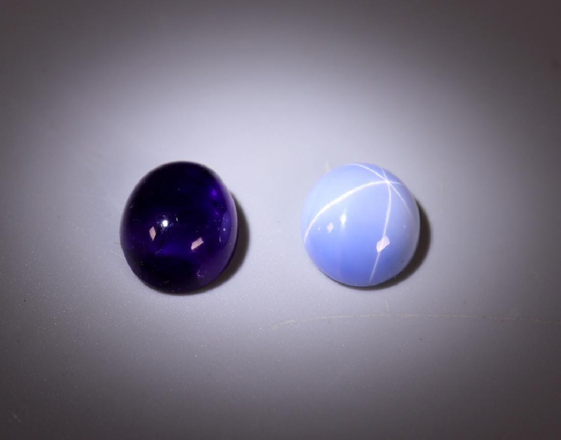 42 Gemstones; Star Sapphire Amethyst Tiger Eye Etc - 2