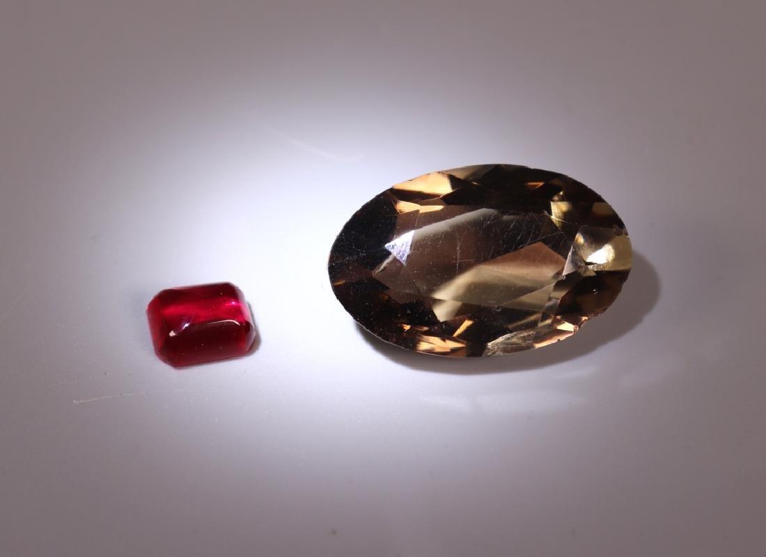 42 Gemstones; Star Sapphire Amethyst Tiger Eye Etc - 5