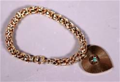 Tiffany & Co 50's Vintage 14K Heart Charm Bracelet