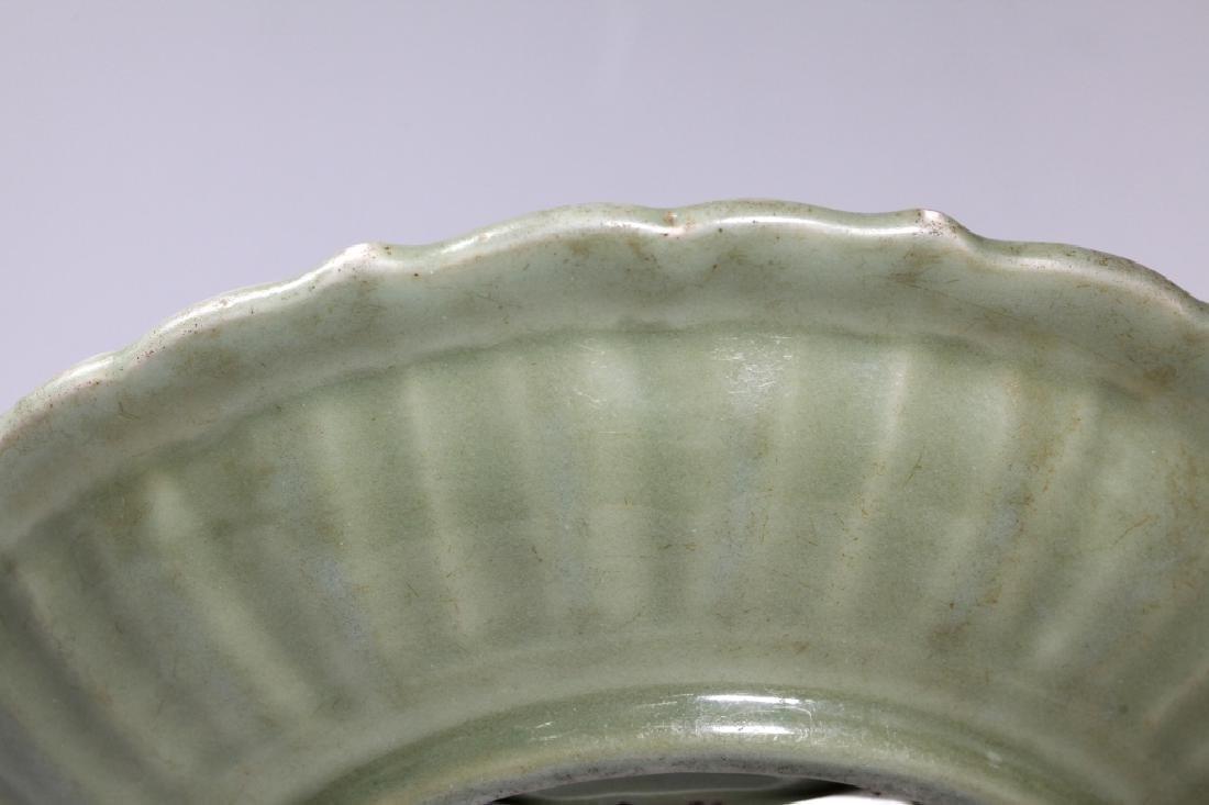Lg Chinese Ming Longquan Celadon Porcelain Plate - 7