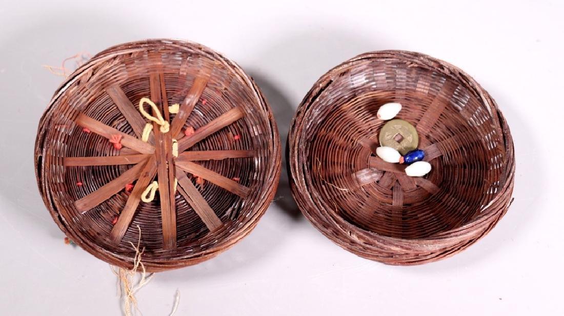 Chinese Bamboo Sewing Basket; Peking Glass, Etc. - 10